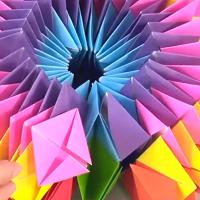 折り紙 万華鏡 折り 方 折り紙で万華鏡の折り方。 ままほの日記