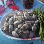 バンセン・ビーチで食べる生きた化石 in タイ