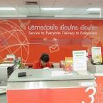 プラカノン郵便局 in タイ(Phra Khanong) 速達郵便は+25バーツ