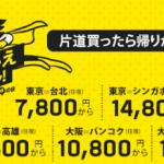 わらしべ流LCCスクート(Scoot)片道1000円プロモの活用方法!ビザ対策
