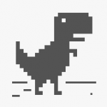 『インターネット接続がありません』でも恐竜ジャンプゲームで遊ぶ♪