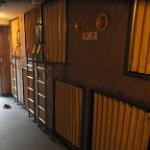 入谷ステーションホテル2200円カプセルホテル内の様子 in 東京